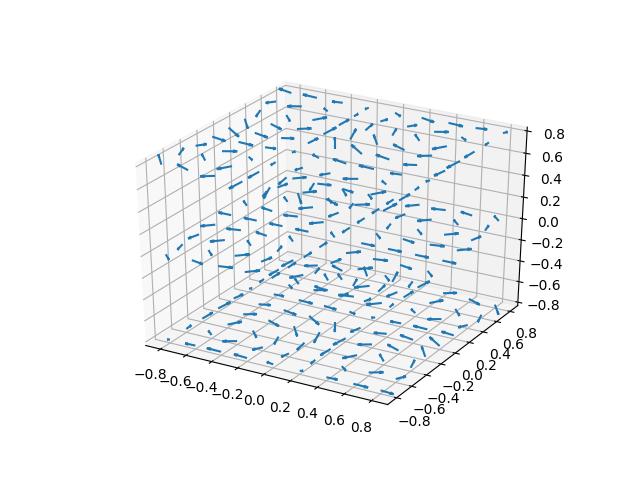 3D quiver plot — Matplotlib 3 1 0 documentation