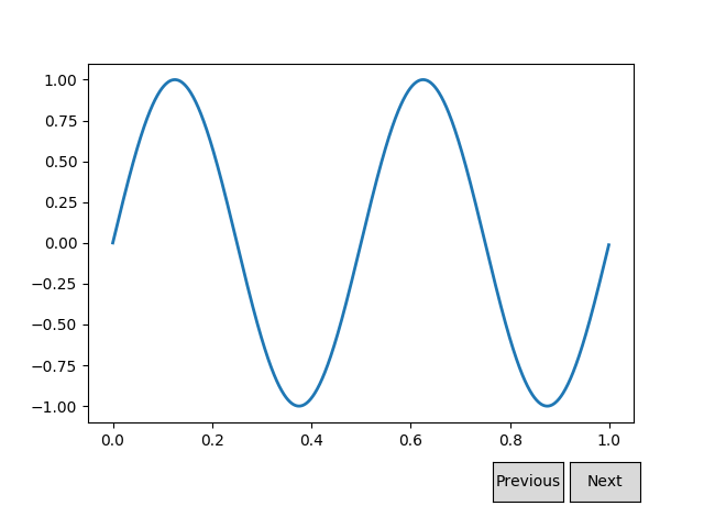 Buttons — Matplotlib 3 1 1 documentation