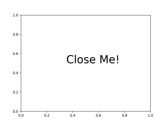 Close Event — Matplotlib 3 1 1 documentation