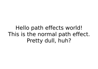 Path effects guide
