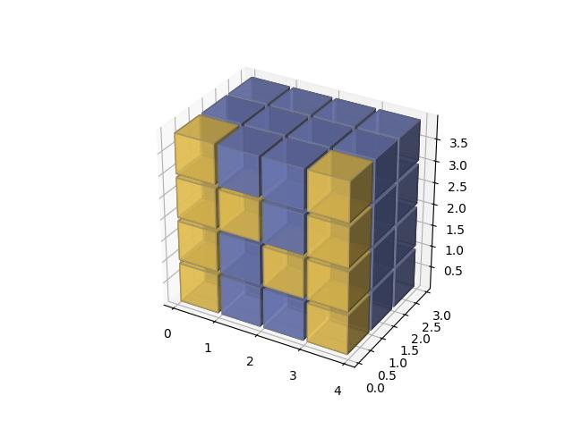 三维体素绘制Numpy的Logo示例