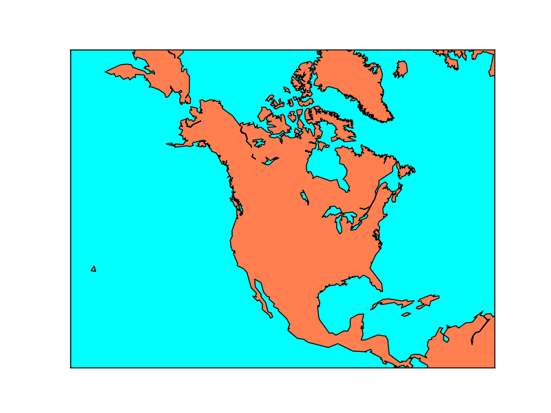 Drawing a Map Background — Basemap Matplotlib Toolkit 1 2 1