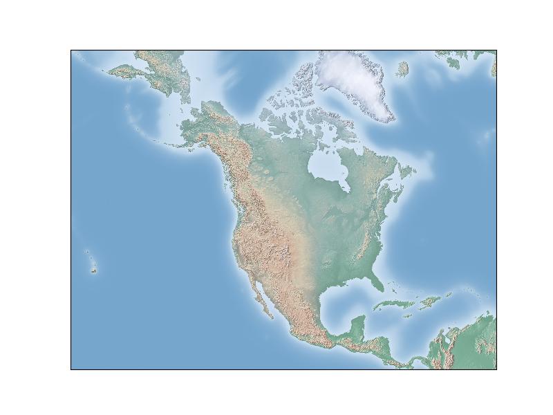 Drawing a Map Background — Basemap Matplotlib Toolkit 1 2 1