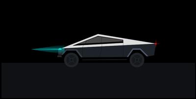 Completed Tesla Cybertruck in Matplotlib